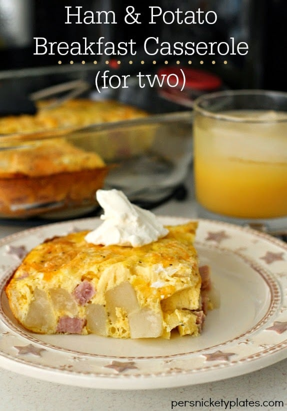 Ham and Potato Breakfast Casserole For Two