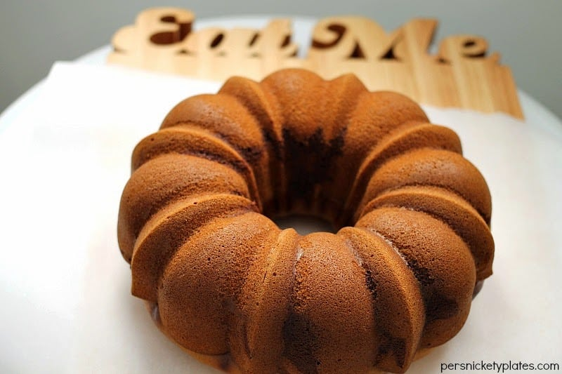 Pumpkin Chocolate Marble Bundt Cake | Persnickety Plates