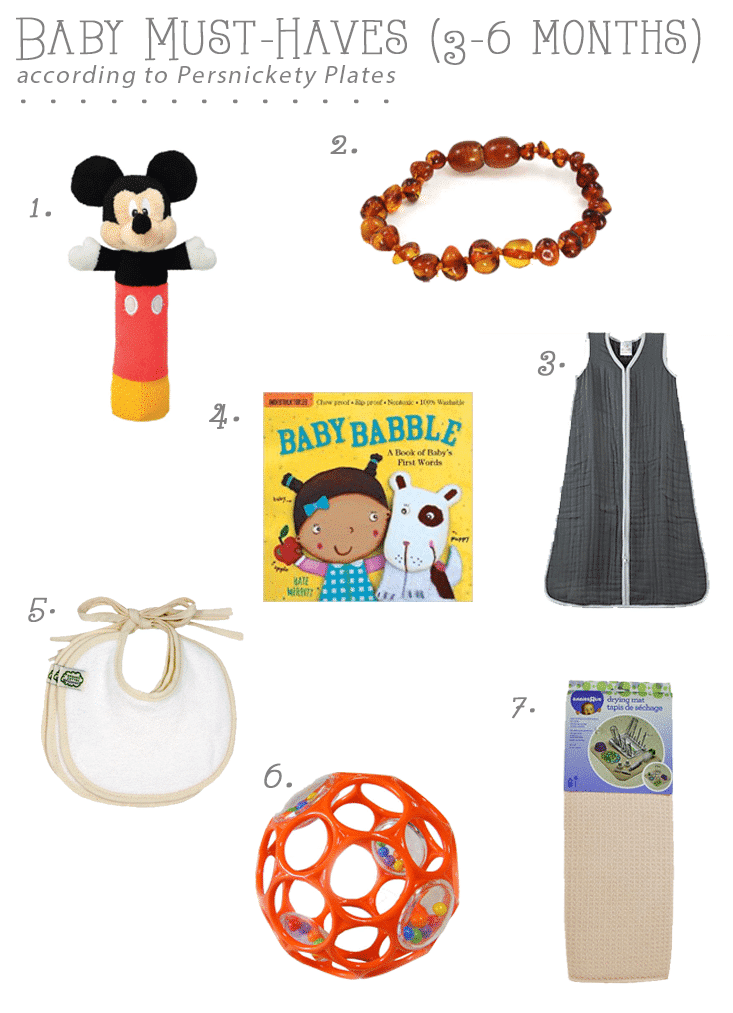 Persnickety Baby: Baby Must-Haves (3-6 months)