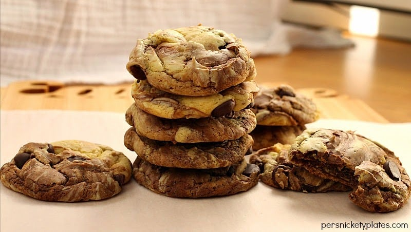 Fudge Marble Cookies - 5 ingredient cake mix cookies | Persnickety ...