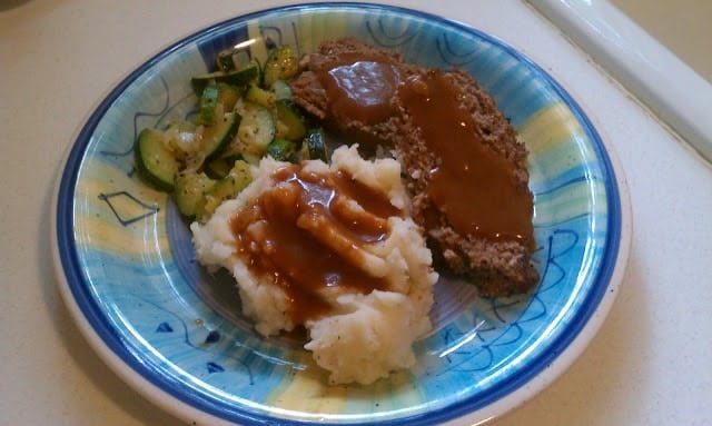 Classic Meatloaf with Brown Gravy for those nights you're feeling nostalgic. | www.persnicketyplates.com