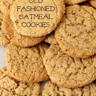Old Fashioned Plain Oatmeal Cookies | Persnickety Plates