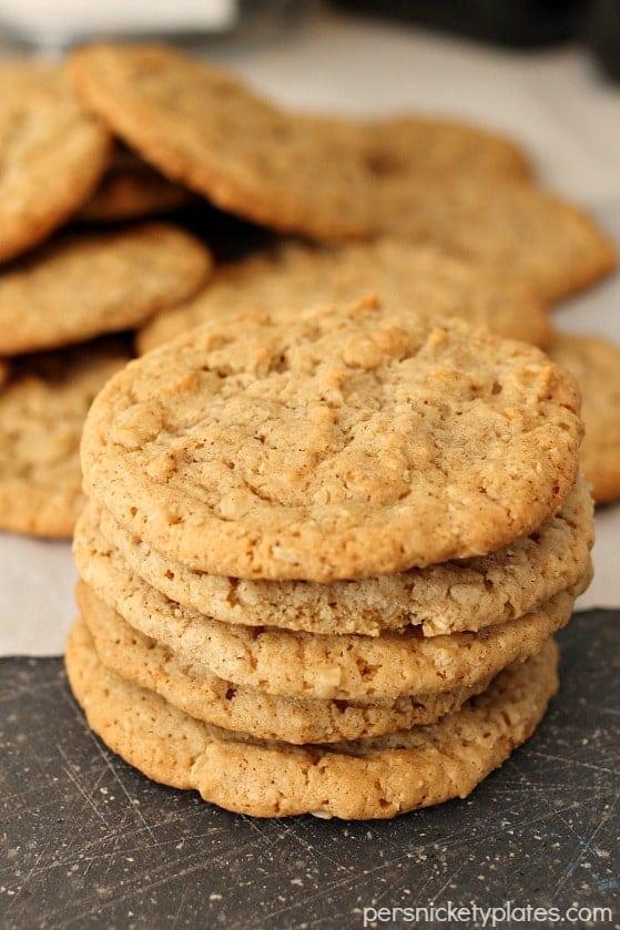 Old Fashioned Oatmeal Cookies Persnickety Plates