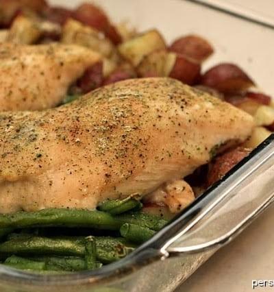 One Dish Ranch Chicken & Veggie Bake | Persnickety Plates