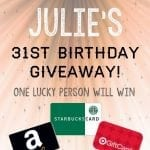 It's time for a giveaway! {Amazon, Target & Starbucks gift cards}