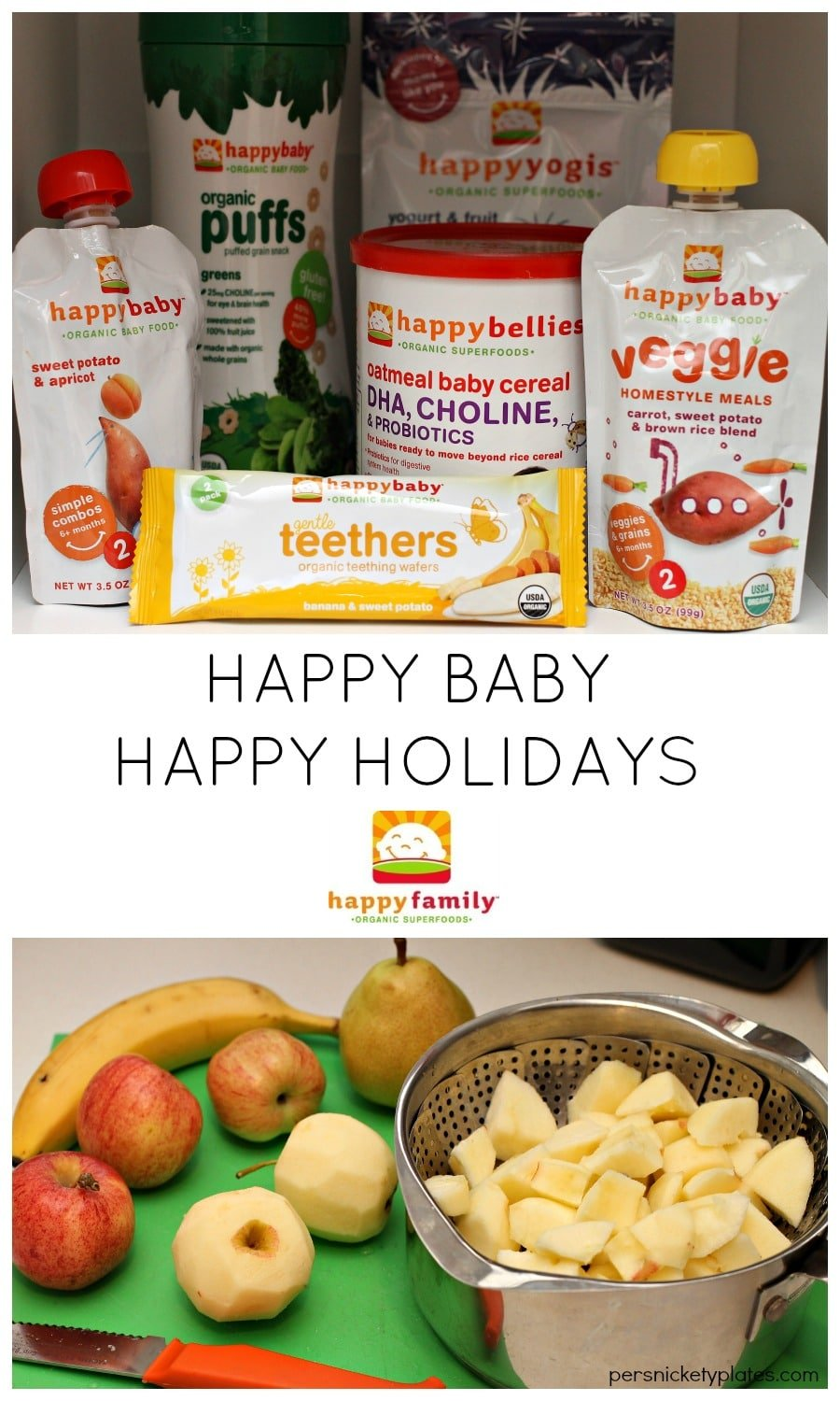 Happy Baby | Happy Holidays - Starting Solids with Happy Family Foods | Persnickety Plates