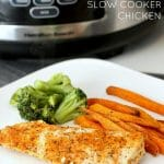 Three Ingredient Spicy Ranch Slow Cooker Chicken
