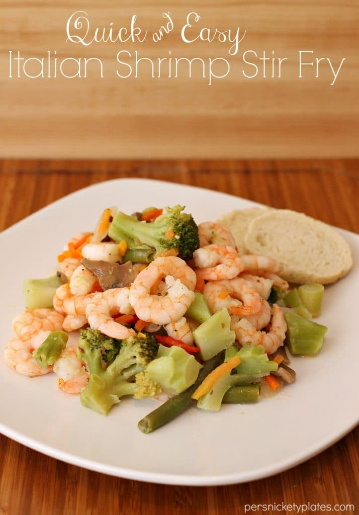 Italian Shrimp Stir Fry   Persnickety Plates #SamsClubSeafood