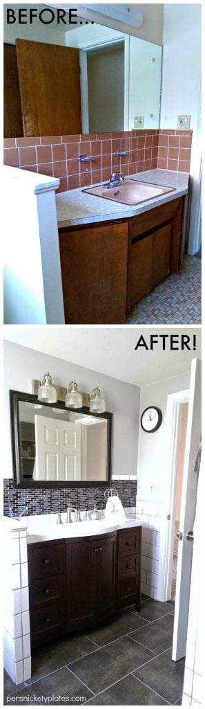 persnickety house: Bathroom Before and After Photos!