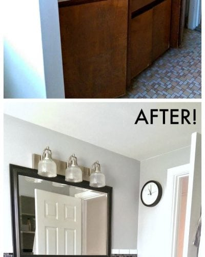 Average sized bathroom before and after pictures   Persnickety Plates