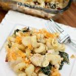 Cheesy Chicken Bacon & Kale Pasta Bake