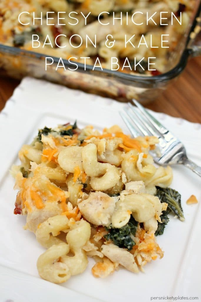 Cheesy Chicken Bacon & Kale Pasta Bake
