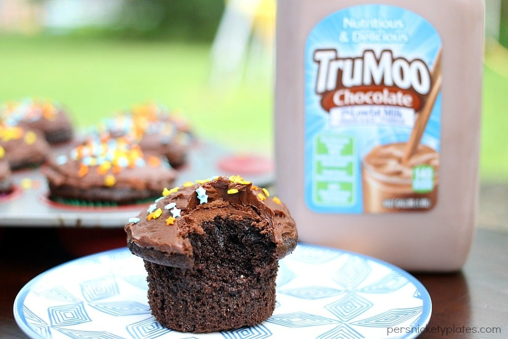 Chocolate Milk Cupcakes are not to be confused with Milk Chocolate Cupcakes! These easy cupcakes are made with chocolate milk!