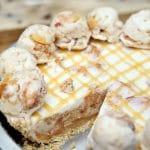 Peaches and Cream Ice Cream Pie