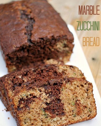 Classic zucchini bread gets an upgrade when you swirl in chocolate and chocolate chips!   Persnickety Plates