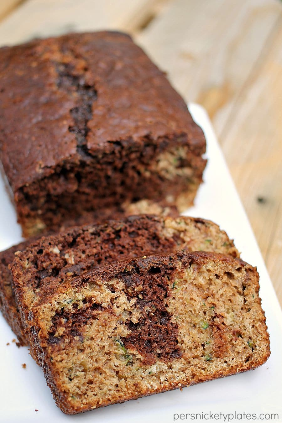 Chocolate Marble Zucchini Bread 187 Persnickety Plates