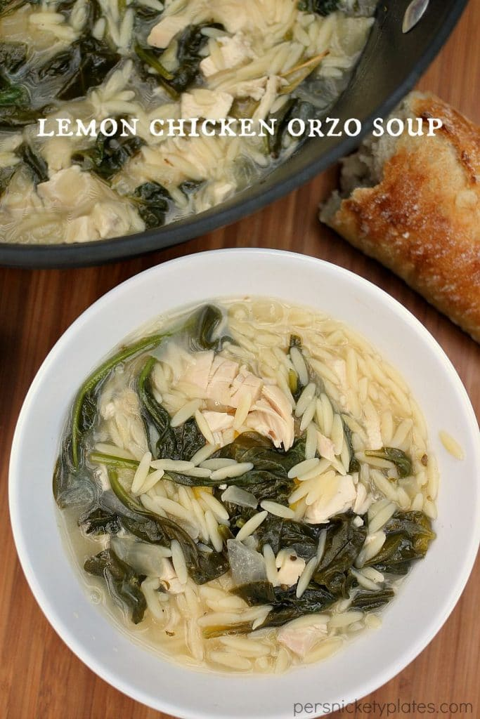 This light and summery Lemon Chicken Orzo Soup is a Panera copycat ...