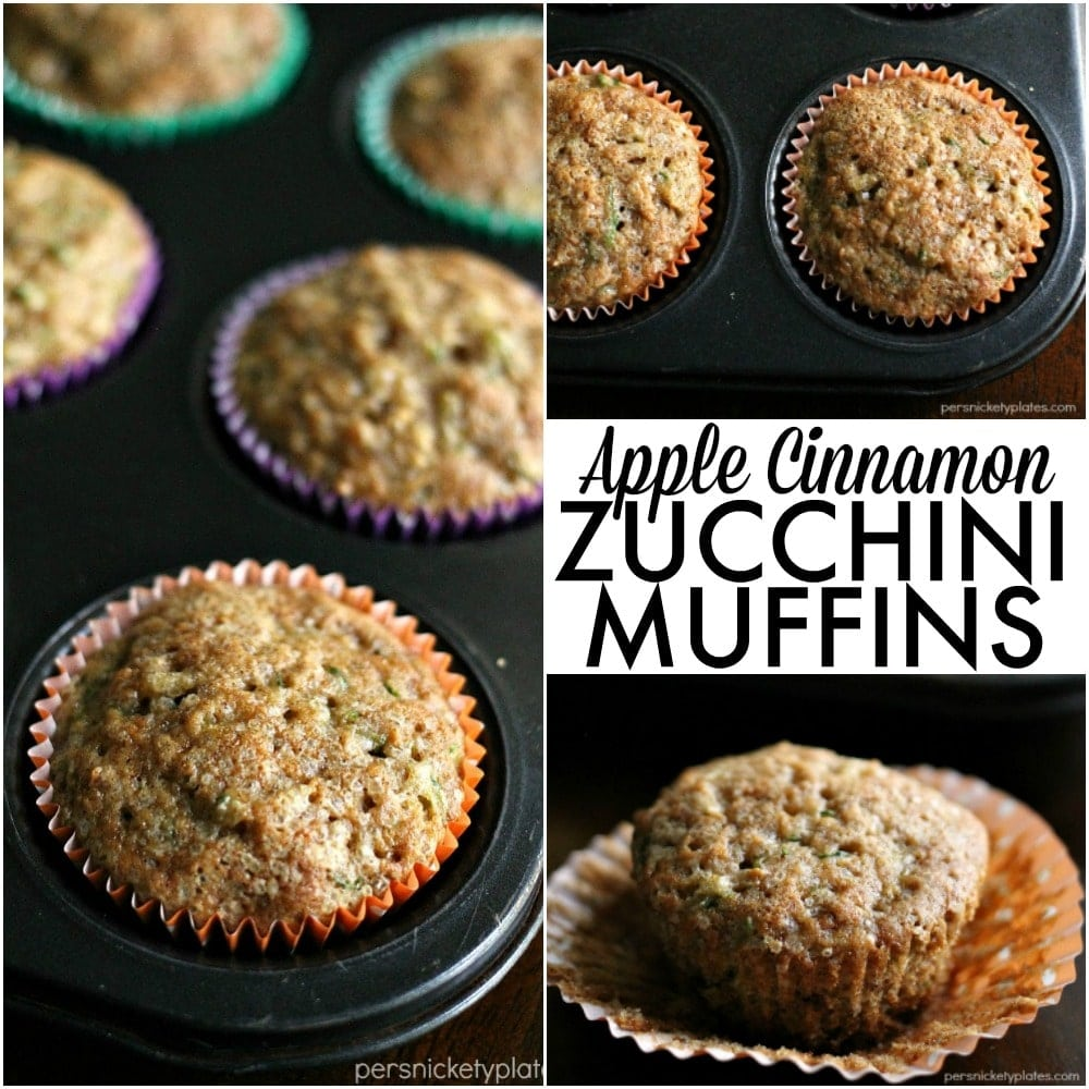 Apple Cinnamon Zucchini Muffins » Persnickety Plates