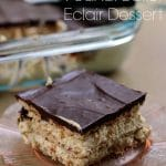 Chocolate and Peanut Butter Eclair Dessert