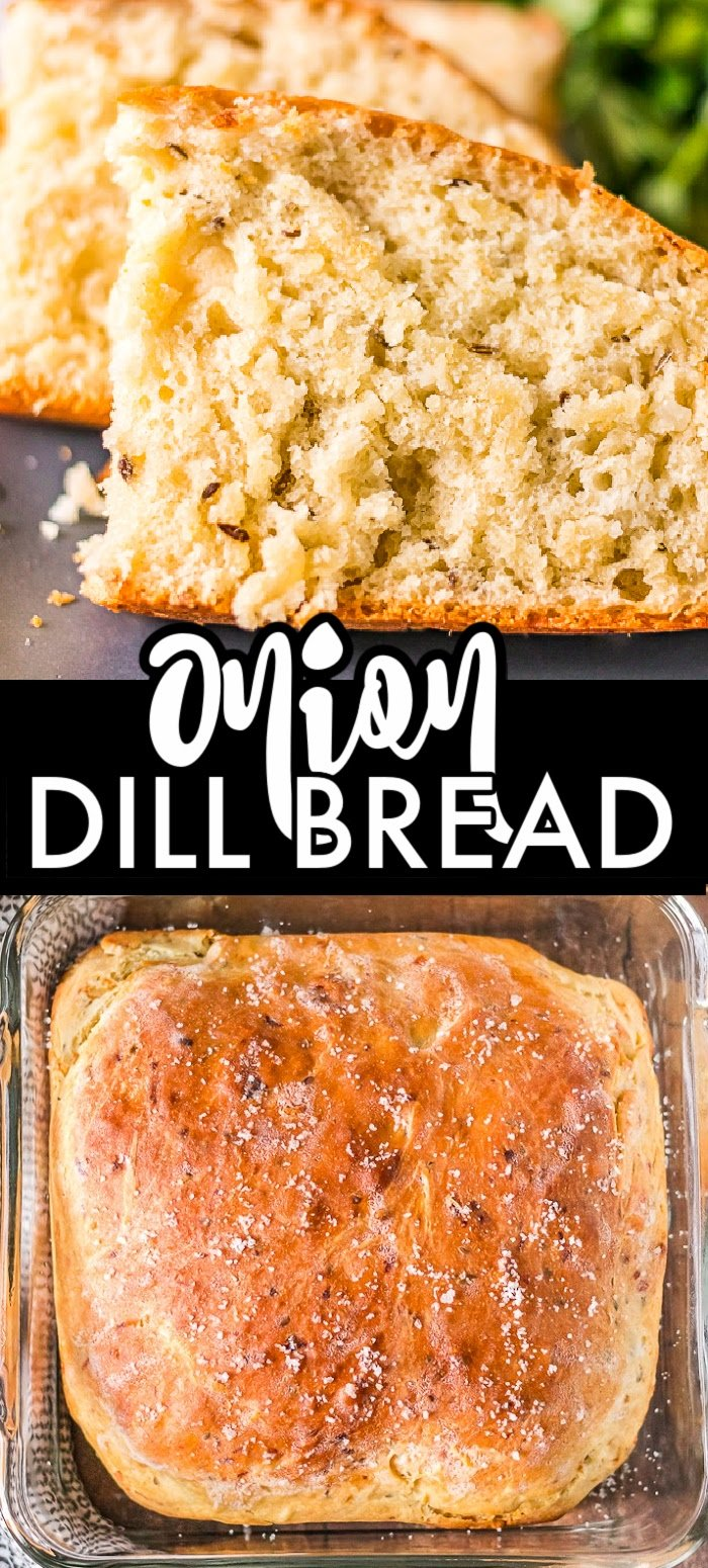 A simple, vintage recipe for Onion Dill Bread, that includes cottage cheese, passed down from my great-grandma. It pairs perfectly with soups & stews. | www.persnicketyplates.com