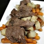Slow Cooker Italian Roast Beef with Potatoes and Carrots