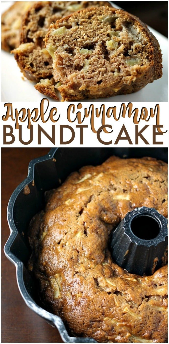 Apple Cinnamon Bundt Cake is moist and flavorful and is the perfect way to use up your favorite apples. This from scratch apple bundt cake recipe is great all year long! | www.persnicketyplates.com #cake #apples #dessert #appledessert #homemade #bakefromscratch