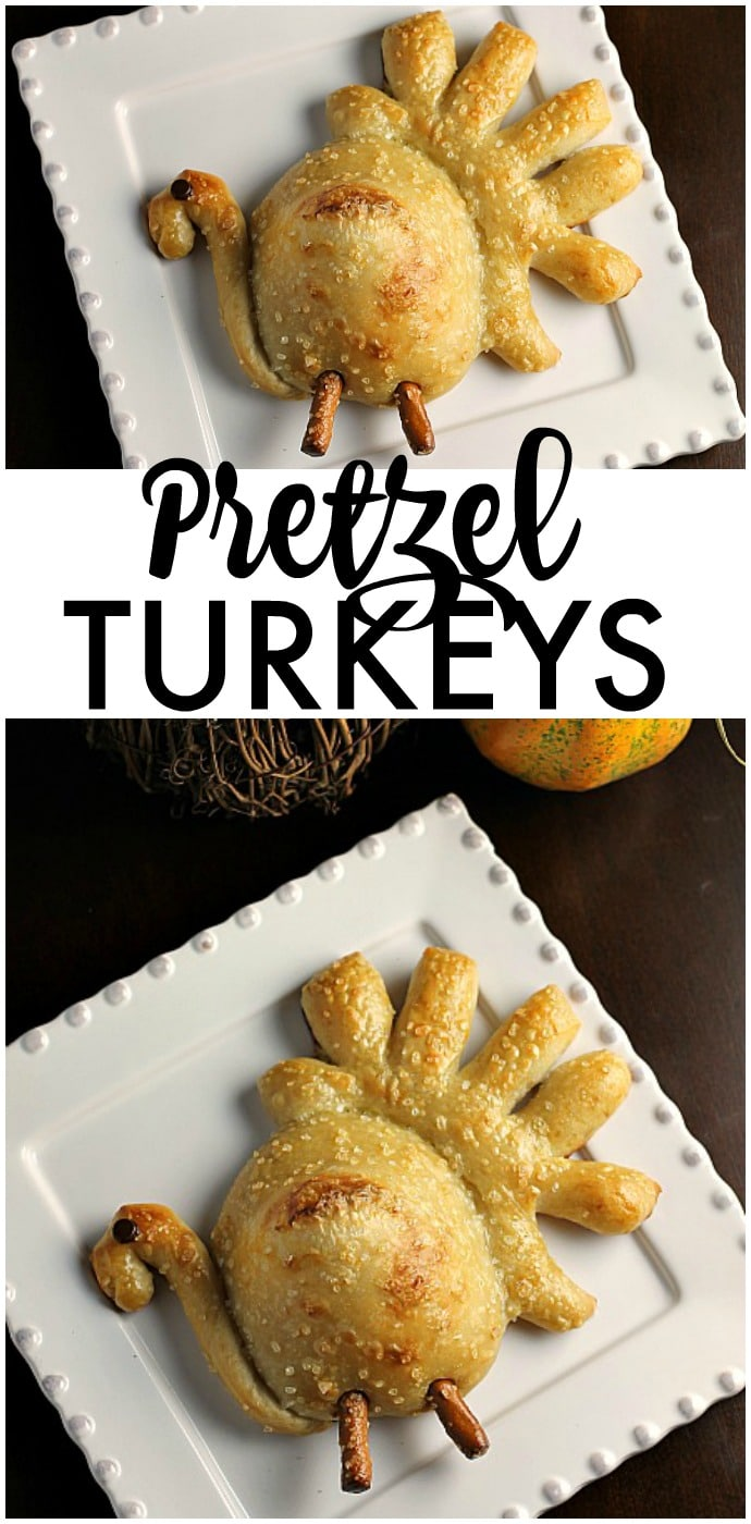 These simple Thanksgiving Pretzel Turkeys are so easy to make and are sure to be a hit with kids and adults on your Thanksgiving table! | www.persnicketyplates.com