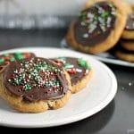 Brown Butter Chocolate Caramel Cookies