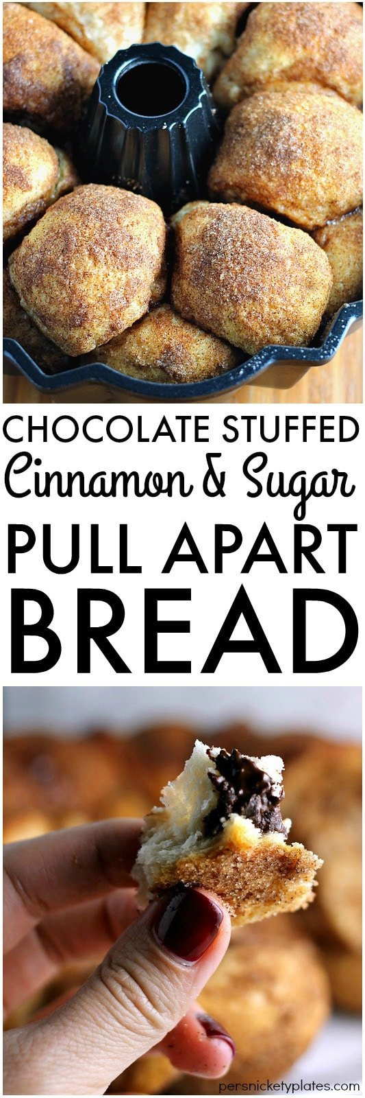 Chocolate Stuffed Cinnamon & Sugar Pull-Apart Bread ...