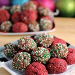 Sprinkled Chocolate Fudge Cookie Bites