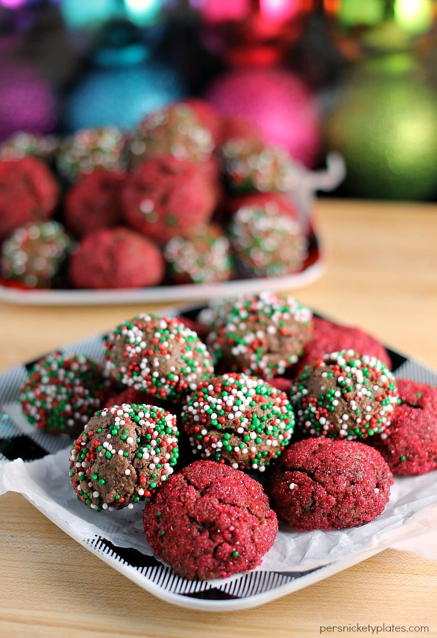Sprinkled Chocolate Fudge Cookie Bites - perfect for a cookie swap or ...
