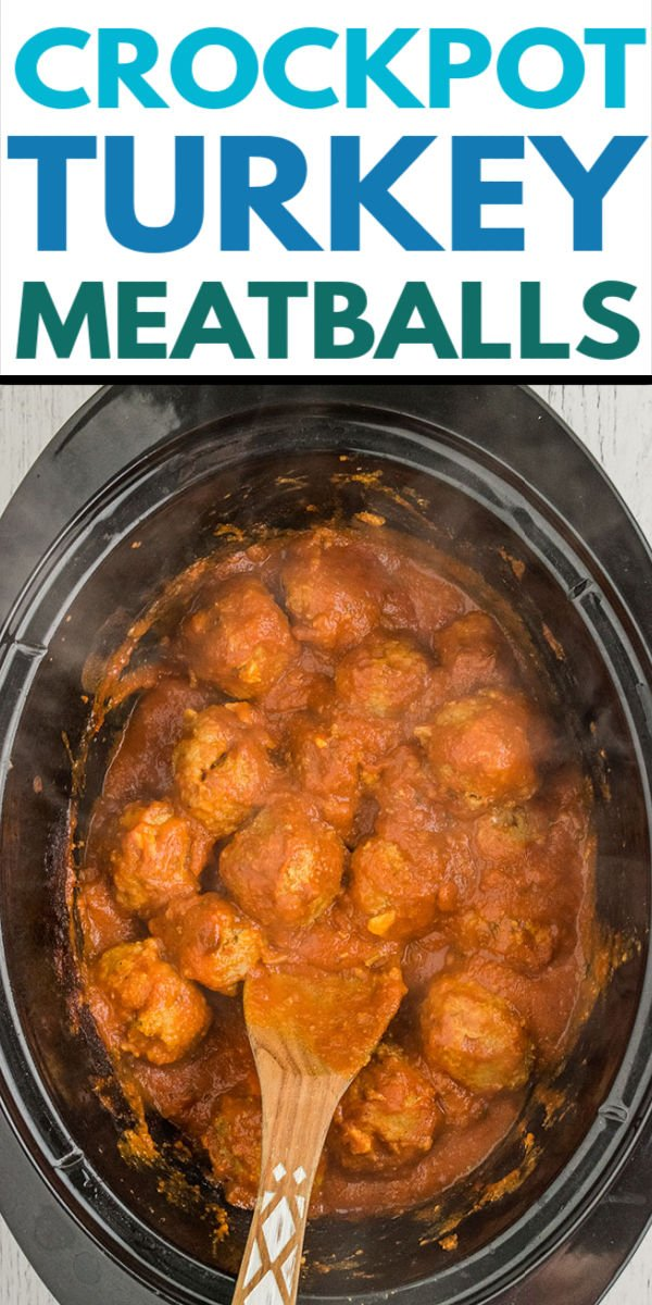 Crockpot Turkey Meatballs stuffed with mozzarella cheese and served over zoodles, or your favorite noodle, is a healthy and delicious recipe made right in your slow cooker!  | www.persnicketyplates.com