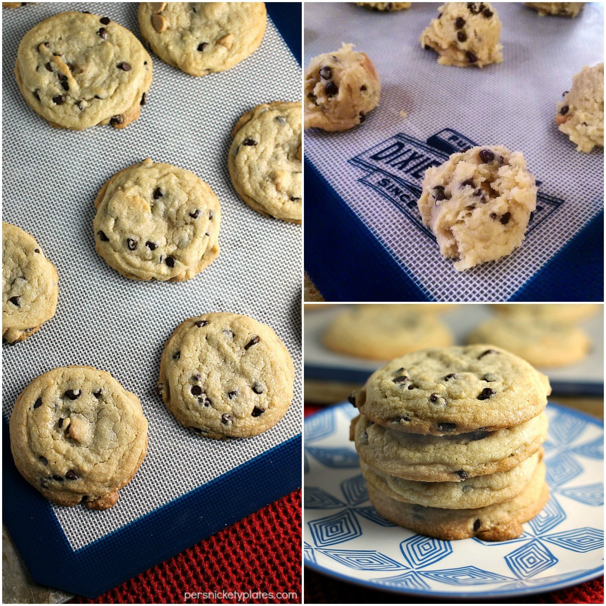 Soft Baked Peanut Butter & Chocolate Chip Cookies » Persnickety Plates