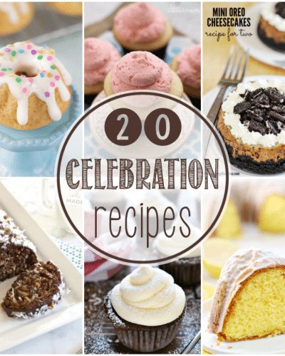 If you're planning a party anytime in the near future, you'll want to check out these 20 recipes for treats and drinks perfect for a celebration. | Persnickety Plates