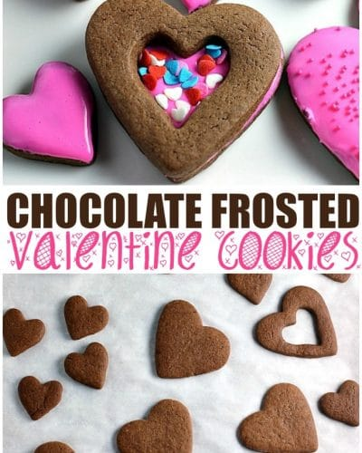 Chocolate Frosted Valentine Cookies Start With A Simple Chocolate