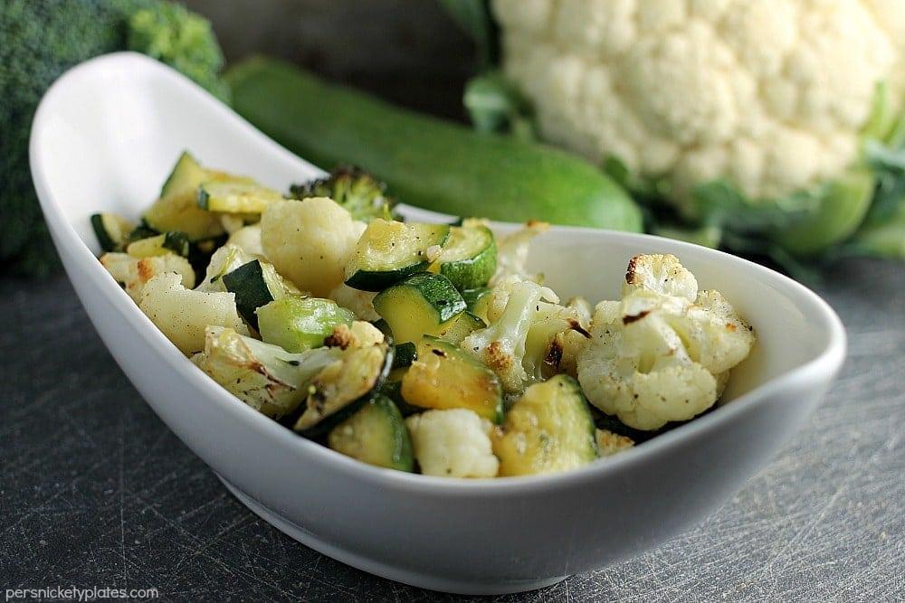 Lemon Basil Roasted Veggies