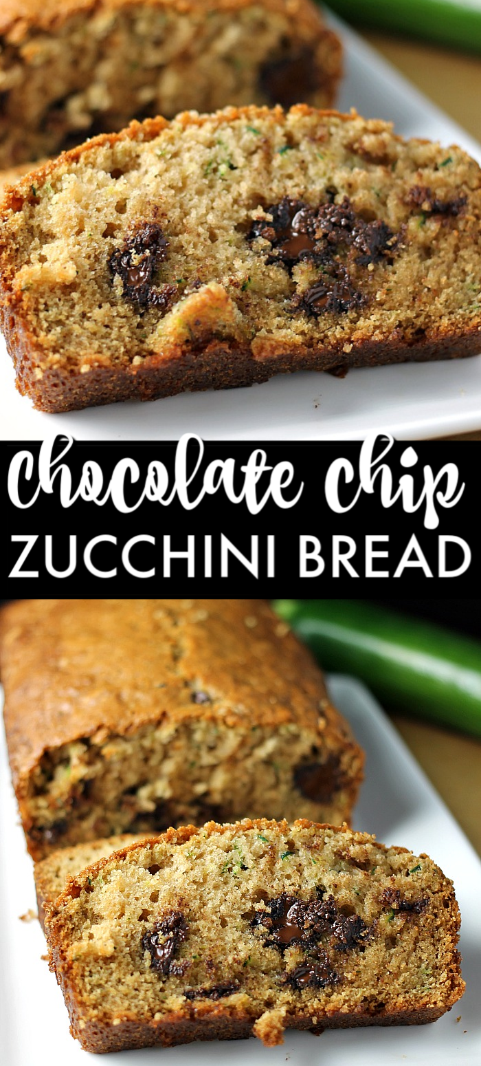 I've been making this Paula Deen Zucchini Bread recipe for years because it really is the best zucchini bread! It's easy to prepare and it makes two loaves so you can share. | www.persnicketyplates.com #zucchinibread #quickbread #dessert #zucchini #chocolatechips
