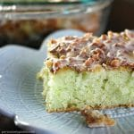 Jazz up a cake mix in this super simple Pistachio Cake that people ALWAYS ask for the recipe for. | Persnickety Plates