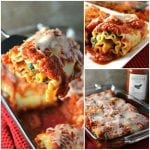 These Veggie Lasagna Roll-Ups are filled with spinach, zucchini, and cheeses and smothered in Classico Riserva's new Eggplant and Artichoke sauce. | Persnickety Plates