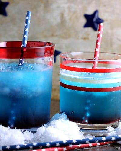 This red, white, and blue Patriotic Vodka Cocktail made with CH Vodka is a festive way to celebrate the Fourth of July or any day you're feeling especially patriotic. | Persnickety Plates