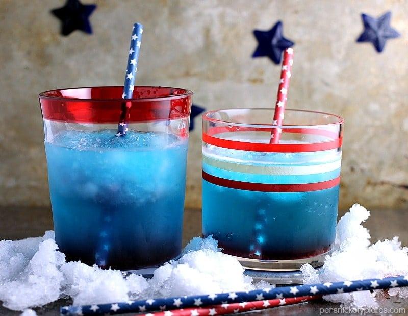 Patriotic Vodka Cocktail