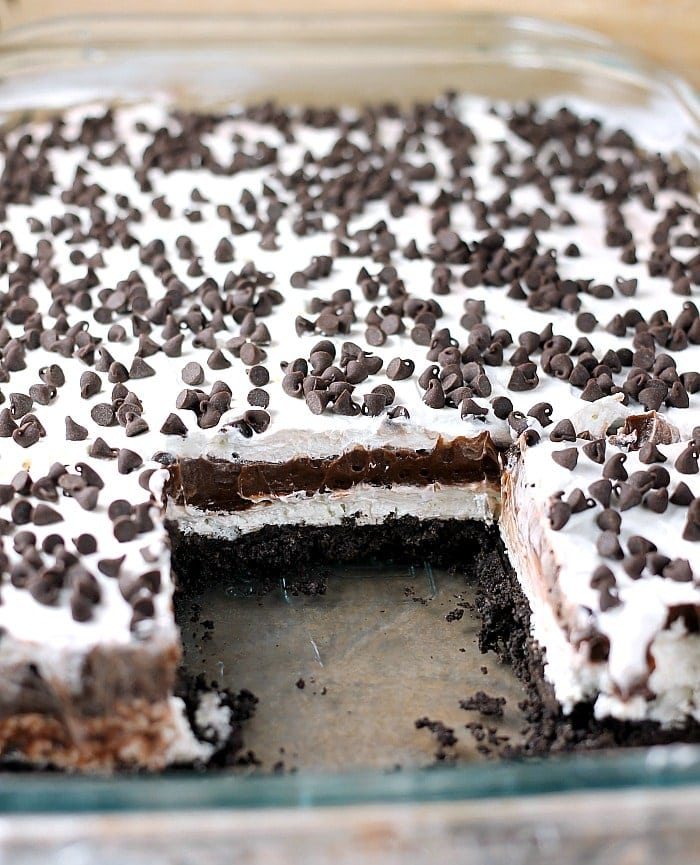 no bake chocolate lush persnickety plates