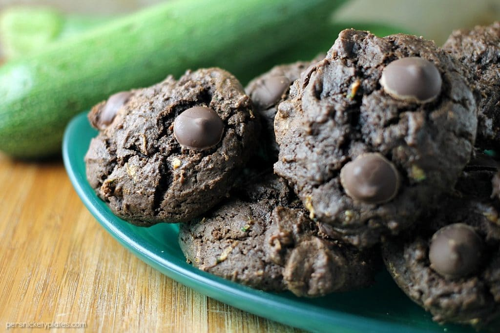Chocolate Zucchini Drop Cookies
