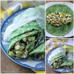 Vegetarian Mediterranean Wrap   Persnickety Plates