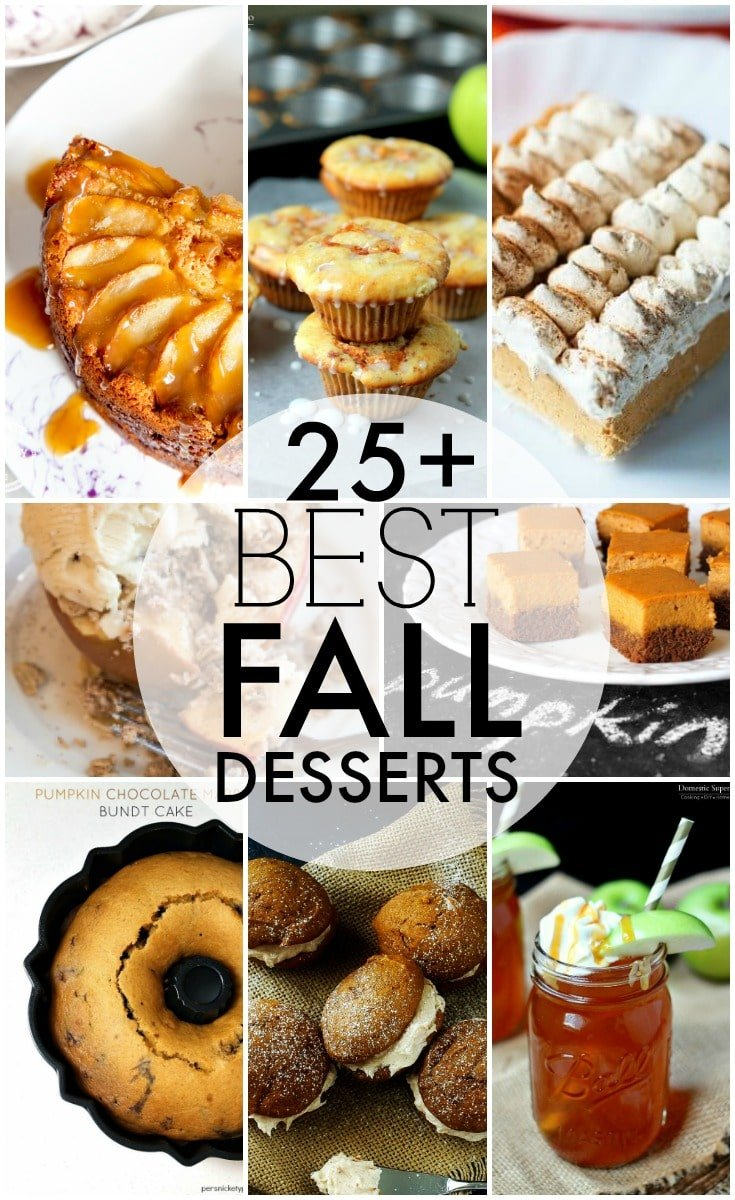 Over 25 of the BEST fall desserts perfect to kick up the fast approaching fall season! Cakes, pies, cookies, drinks - something for everyone! | Persnickety Plates
