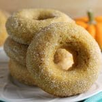 Cinnamon Sugar Pumpkin Donuts {Vegan}