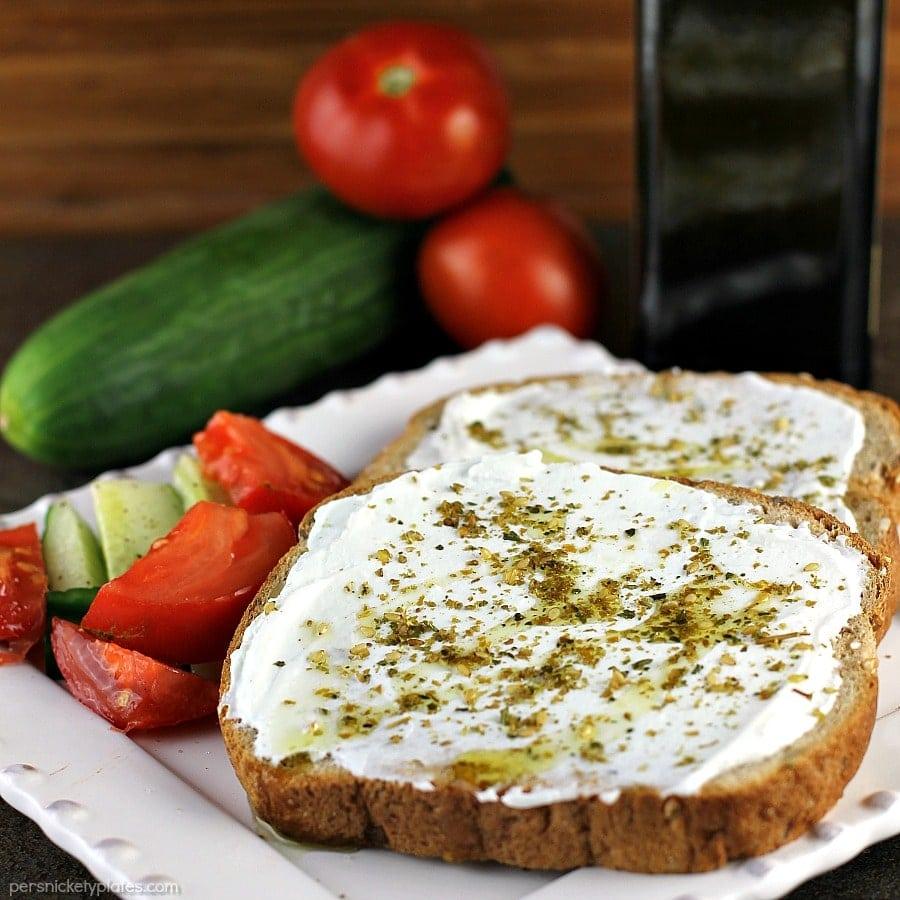 Labneh Za'atar Toast