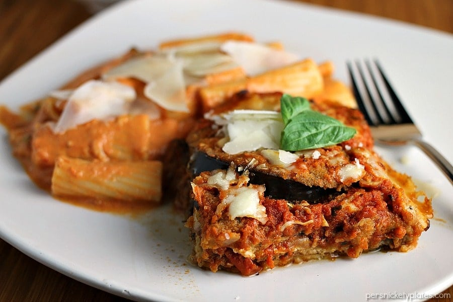 Vodka Rigatoni with Eggplant Parmesan » Persnickety Plates