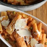 Vodka Rigatoni with Eggplant Parmesan