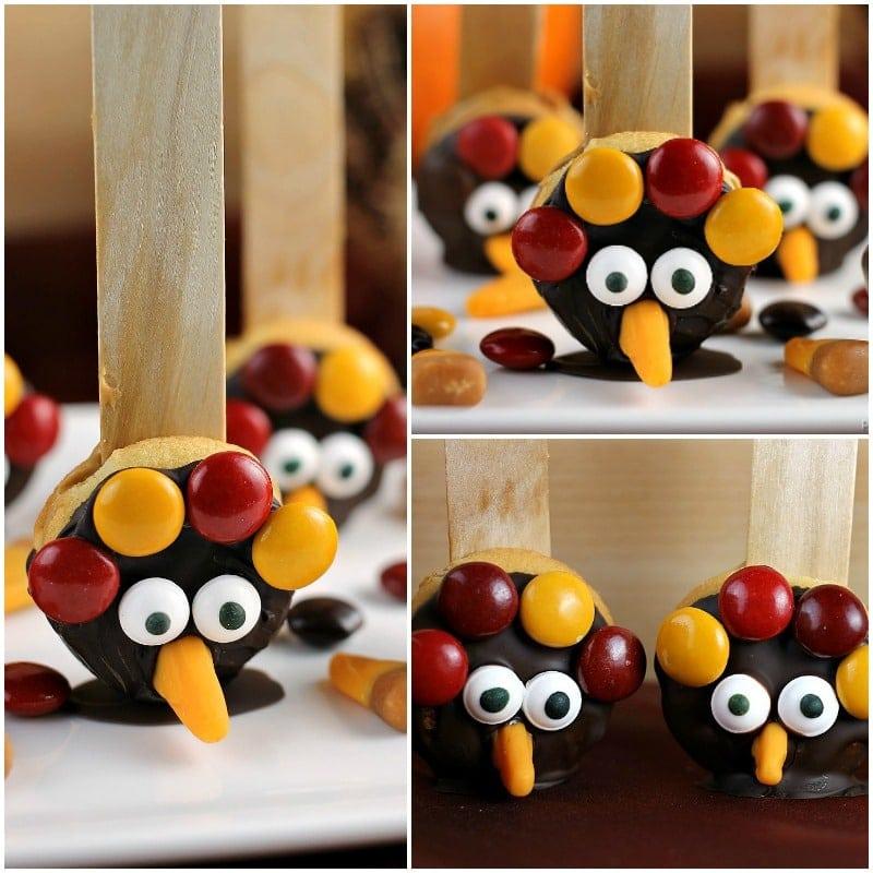 Decorated Chocolate Turkeys Www Dunmorecandykitchen Com: Nilla Wafer Thanksgiving Turkeys » Persnickety Plates